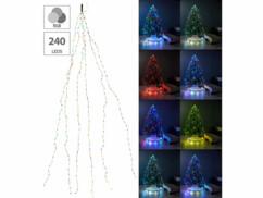 Guirlande lumineuse à effet cascade 6 fils avec 240 LED par Lunartec.
