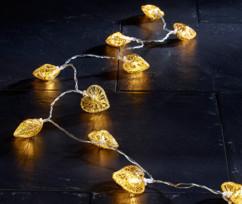 Guirlande lumineuse ''cœurs'' dorés