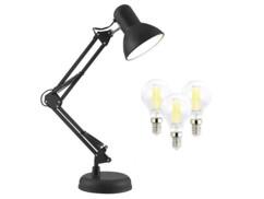 Lampe de bureau rétro avec 3 ampoules E14