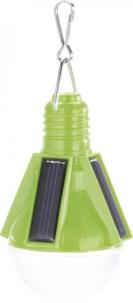 Lampe festive solaire design ampoule - Vert