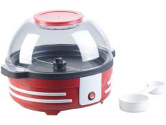 Machine à pop-corn rétro 850 W avec mélangeur et revêtement antiadhésif