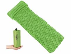 Matelas gonflable léger avec oreiller intégré - Vert