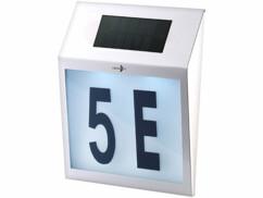 Numéro de maison lumineux solaire ''Trapèze''