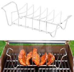 support de cussion pour travers de porc ribs cotelettes cuisson au barbecue