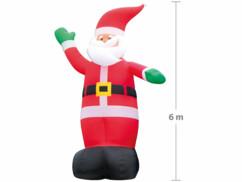 Père Noël géant avec gonflage automatique – 6 mètres