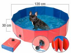 Piscine pliable pour chiens avec fond antidérapant - Ø 120cm