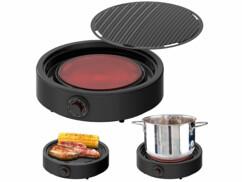 Plaque de cuisson vitrocéramique et gril à chaleur infrarouge 2000W