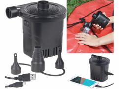 Pompe à air électrique sans fil USB avec fonction batterie de secours 250 L/min