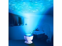 Projecteur à reflets aquatiques avec haut-parleur