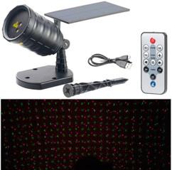 Projecteur laser 3 effets stellaires - Solaire avec télécommande
