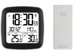 Radio-réveil design avec écran.