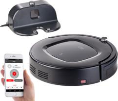robot aspirateur cyclonique automatique avec serpillere pour nettoyage intégral et controle par telecommande application smartphone pwr2000 sichler