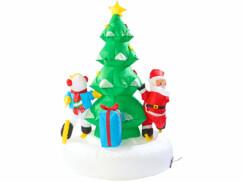Sapin de Noël autogonflant rotatif, 150 cm