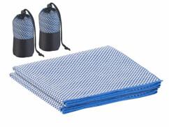 2 serviettes en fibres de bambou 80x 40cm