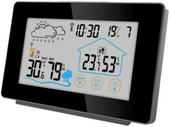 Station météo sans fil avec capteur extérieur et écran tactile couleur : FWS-265