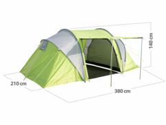 Tente tunnel pour 4personnes avec 2cabines et coutures étanches
