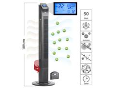 ventilateur colonne avec ioniseur anti pollens et poussieres acariens intégré 55w vt-375