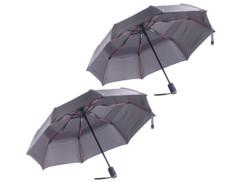 2 parapluies à revêtement Teflon® 210 T résistant au vent jusqu'à 140 km/h