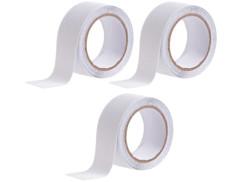 3 rubans adhésifs antidérapants & résistants à l'eau 4m - Transparent - Ø 48mm