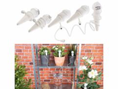 5 doseurs d'irrigation pour pots de fleurs, avec pointe en argile et tuyau