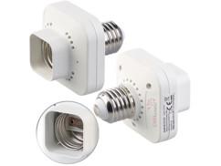 2 adaptateurs de douille KFS150.e27 E27/60 W pour interrupteur cinétique KFS-100