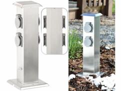 Colone multiprise Royal Gardineer avec design élégant en acier inoxydable pour votre jardin.