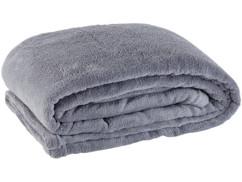 couverture douce en microfibre grise 130 x 170 cm pour canapé