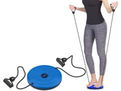 appareil de musculation fitness disque avec extenseurs travail des abdominaux jambes