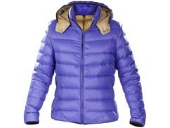 Doudoune ultralégère en duvet avec col montant et capuche - Bleu - Taille XL