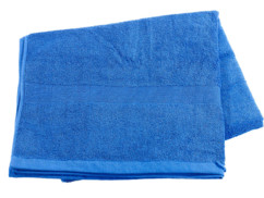 Drap de bain en coton éponge - 220 x 90 cm - Bleu