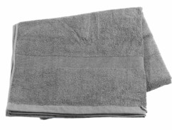 Drap de bain en coton éponge - 220 x 90 cm - Gris