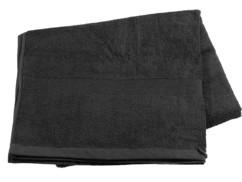 Drap de bain en coton éponge - 220 x 90 cm - Noir