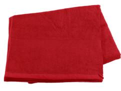 Drap de bain en coton éponge - 220 x 90 cm - Rouge