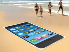 Drap de bain microfibre dessin Smartphone  Noir - 165 x 90 cm