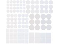 pack de 110 patins blanc en feutre à coller sous meubles canapé pattes de chaises