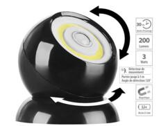 Lampe sans fil 200 lm à LED COB et détecteur de mouvement WL-420 - Noir