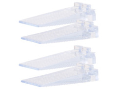 Lot de 4 cale-portes transparents empilables, 8,7 cm