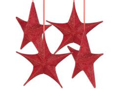 Lot de 4 étoiles de Noël pliables Ø 40 cm