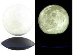 decoration lumineuse en levitation lune flottante sur base magnetique infactory
