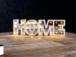 """Miroir décoratif lumineux sans fil """"HOME"""" avec fonction minuteur"""