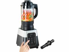 Mixeur professionnel tactile 1,75 L/ 1500W/ 26000 tr/min avec fonction chauffante BR-1850.w