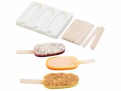 Moule en silicone 80ml et 24bâtonnets - Pour 3 glaces