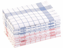 Pack de 12 torchons à vaisselle 70 x 50 cm certifiés OEKO-TEX® Standard 100
