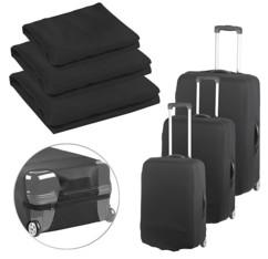 Pack de 3 housses de protection élastiques pour valise, tailles M / L / XL