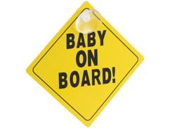 panneau bébé a bord baby on board avec ventouse pour voiture