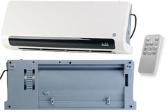 Radiateur soufflant céramique mural 2200W avec thermostat numérique LV-800.W