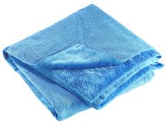 Serviette en microfibres double face 180 x 90 cm - Bleu
