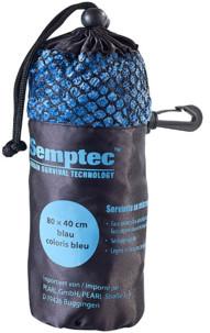 serviette de sport en microfibres double face super absorbant doux 80 x 40 cm bleu semptec