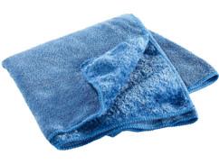 Serviette en microfibres double face 80 x 40 cm - Bleu