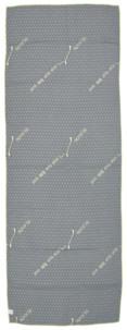 serviette de sport hyper absorbante 1,83 cm grise avec picots anti dérapants idéal salle musculation fitness yoga